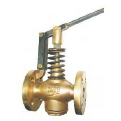 Ship's daily standard double flange self closing valve JIS F7398