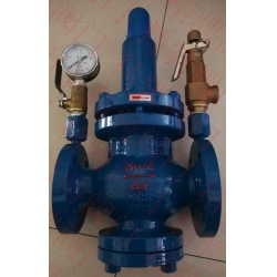 Marine flanged stainless steel pressure relief valve (with pressure gauge and safety valve)