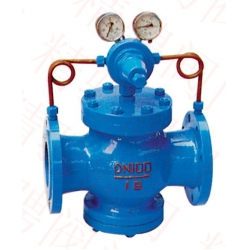 Marine gas pressure reducing valve
