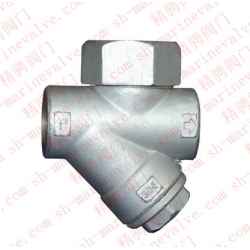 Marine internal thread Y type thermal power steam trap