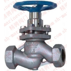 Marine screw type plunger valve