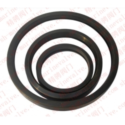 Marine pipe expansion joint sealing ring