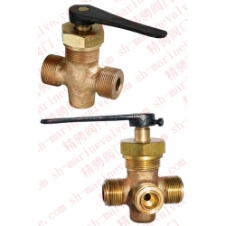 Marine external thread bronze stuffing plug valve GB/T598-1980
