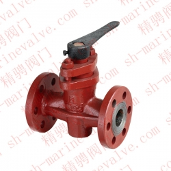 Marine DIN type German standard cast iron sealing cock valve