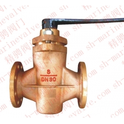 Marine type DIN German standard bronze sealed cock valve
