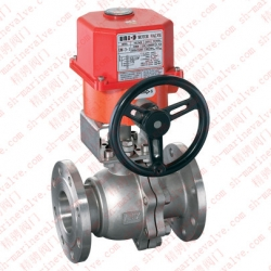 Marine electric belt operated manual ball valve