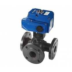 Marine electric three way ball valve