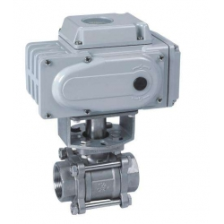 Marine internal thread electric ball valve