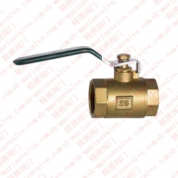 Marine bronze screw ball valves