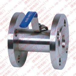 Marine flange wide ball valve