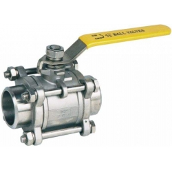 Three piece welding ball valve for ship