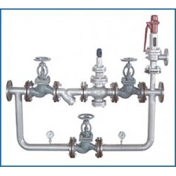 Marine steam pressure relief valve group