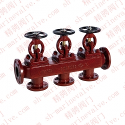 Marine flange cast iron single row triple stop valve box type S and type SS GB1855-93